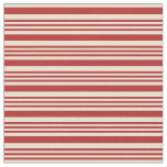 [ Thumbnail: Red and Beige Colored Stripes/Lines Pattern Fabric ]
