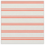 [ Thumbnail: Red and Beige Lines Fabric ]