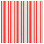 [ Thumbnail: Red and Beige Pattern Fabric ]