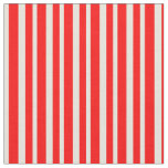 [ Thumbnail: Red and Beige Pattern of Stripes Fabric ]