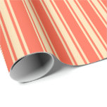 [ Thumbnail: Red and Beige Pattern Wrapping Paper ]