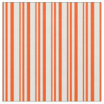 [ Thumbnail: Red and Beige Striped/Lined Pattern Fabric ]