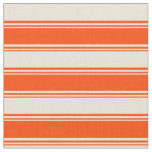 [ Thumbnail: Red and Bisque Colored Pattern Fabric ]