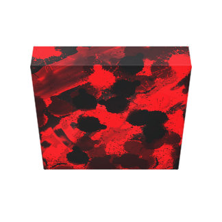 Red and Black Abstract Art Canvas Print