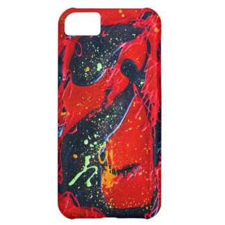 Red and Black Abstract Art Cover For iPhone 5C