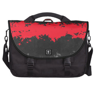red and black abstract bag laptop bags