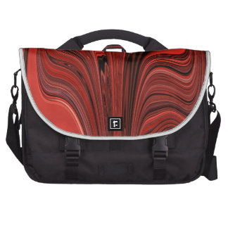 Red and Black Abstract Design Heart? Swirl? Laptop Computer Bag