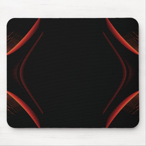 Red and Black Abstract Design. Mouse Pads
