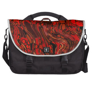 Red and Black Abstract Commuter Bag