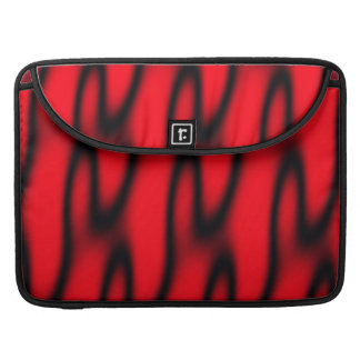 Red and Black Abstract Sleeve For MacBook Pro