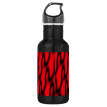 Red and Black Abstract Stainless Steel Water Bottle