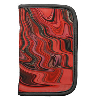 Red and Black Abstract Wave Ripple Design Pattern Planner