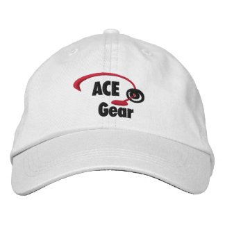 Red and Black Ace Gear Logo Embroidered Hat