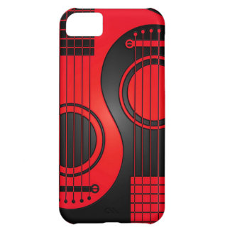 Red and Black Acoustic Guitars Yin Yang iPhone 5C Cover