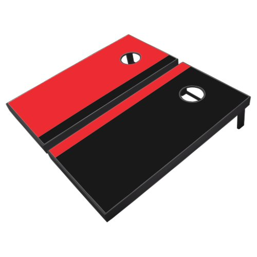 Red and Black Add Your Logo Cornhole Set
