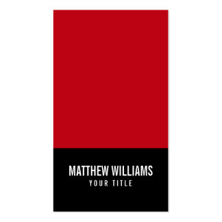 Red and black add your own logo modern generic business card