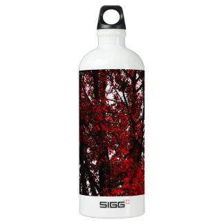 RED AND BLACK ALUMINUM WATER BOTTLE