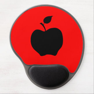 Red and Black Apple Gel Mouse Pad