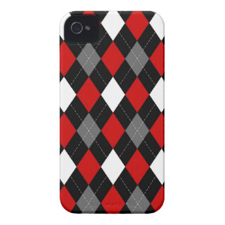 Red and Black Argyle Case-Mate iPhone 4 Case