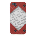 Red and Black Argyle Photo Case For iPhone SE/5/5s