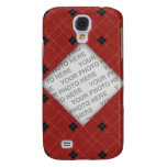Red and Black Argyle Photo Samsung Galaxy S4 Case