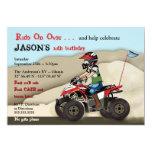 Red and Black ATV Kid Invitation
