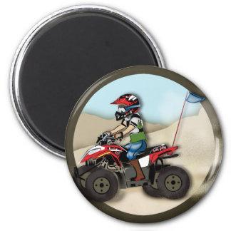 Red and Black ATV Kid Magnet