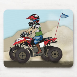 Red and Black ATV Kid Mouse Pad