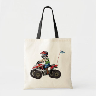 Red and Black ATV Kid Tote Bags