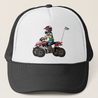 Red and Black ATV Kid Trucker Hat