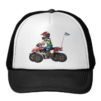 Red and Black ATV Kid Trucker Hat
