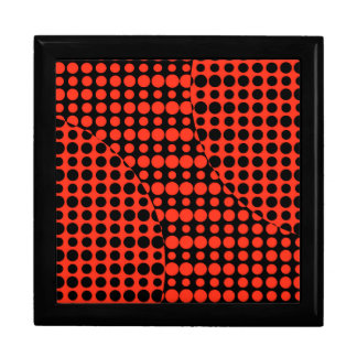 Red and Black Background Jewelry Box