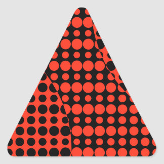 Red and Black Background Triangle Sticker