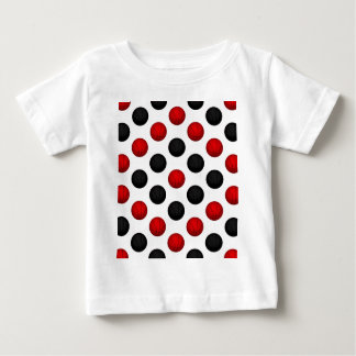 Red and Black Basketball Pattern Baby T-Shirt