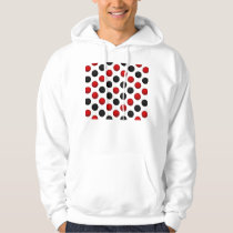 Red and Black Basketball Pattern Hoodie