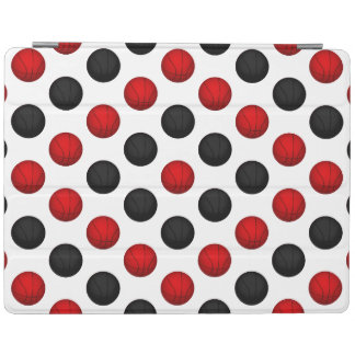 Red and Black Basketball Pattern iPad Cover