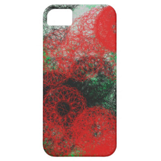 red and black berry abstract art for gothic style iPhone 5 cover
