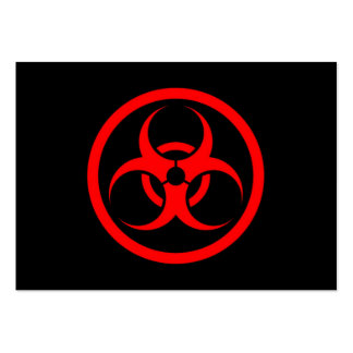 Red and Black Bio Hazard Circle Large Business Cards (Pack Of 100)