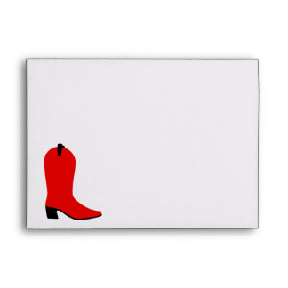 Red and Black Boot Envelope