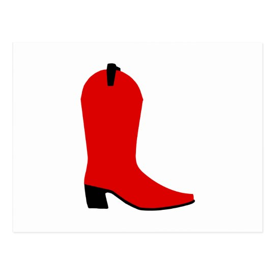 Red and Black Boot Postcard