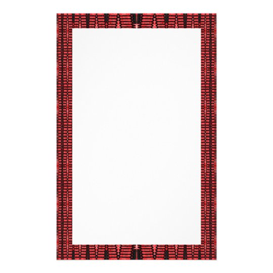 red and black border stationery