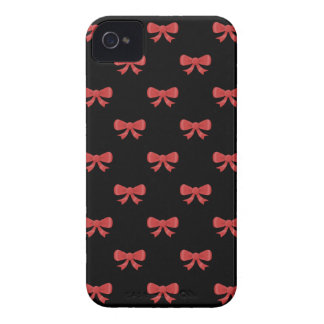 Red and Black Bow Pattern. Case-Mate iPhone 4 Case