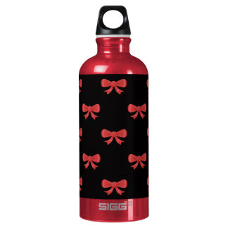 Red and Black Bow Pattern. SIGG Traveler 0.6L Water Bottle
