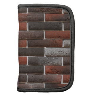 RED AND BLACK BRICK WALL FOLIO PLANNER