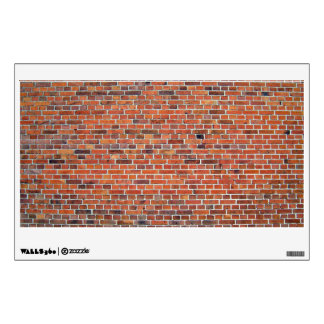 Red And Black Brick Wall With White Mortar Wall Decals