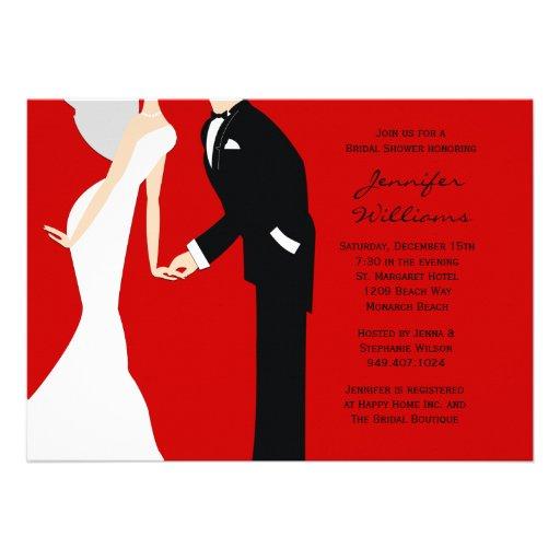 Bride and groom wedding shower 5x7 paper invitation card zazzle