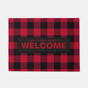 Buffalo Plaid Doormats Amp Welcome Mats Zazzle
