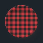 "Red and Black Buffalo Check Plaid Pattern Paper Plate<br><div class=""desc"">Cute red and black buffalo checked plaid pattern is perfect for birthdays,  baby showers,  weddings,  or other occasions! Add text and images by clicking the &quot;Customize It&quot; button below the product image.</div>"