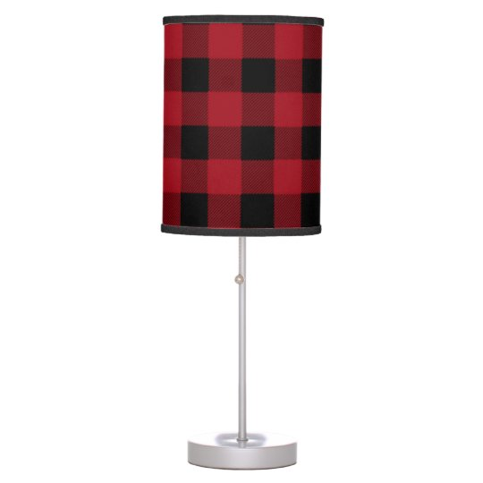 Red and black buffalo plaid table lamp zazzle red and black buffalo plaid table lamp aloadofball Gallery