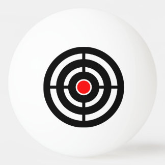 Red and Black Bull's Eye Target Ping Pong Ball